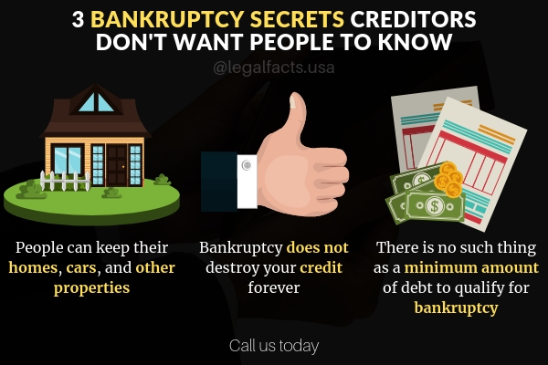 3 Secrets about bankruptcy