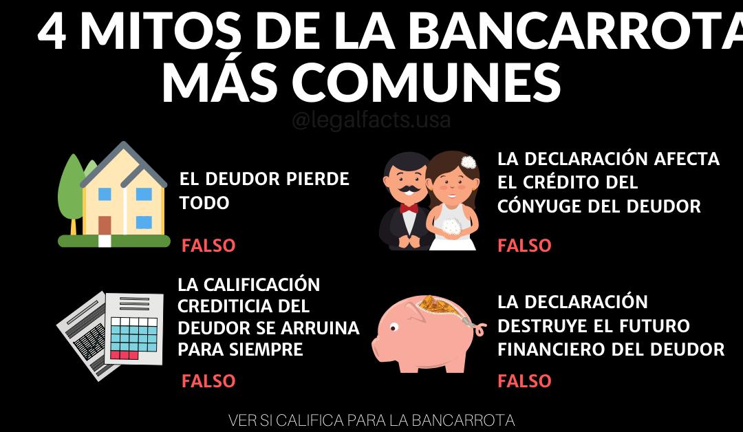 Los 4 Mitos De La Bancarrota Mas Comunes
