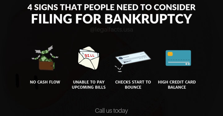 4 Signs People Need to Consider Filing for Bankruptcy