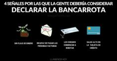 4 Señales De Que La Gente Necesita Considerar Declararse En Bancarrota